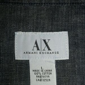 Armani Exchange Shirts - Armani Exchange Denim Vest